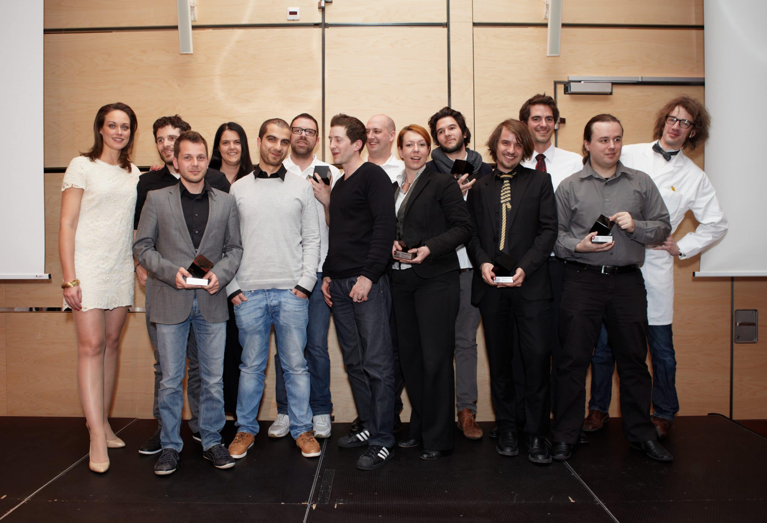 Gbanga with Pilotifant at the Swiss App Awards 2012