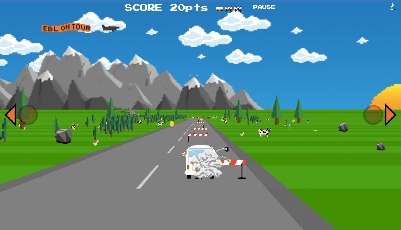 EBL On Tour Race Game - crash