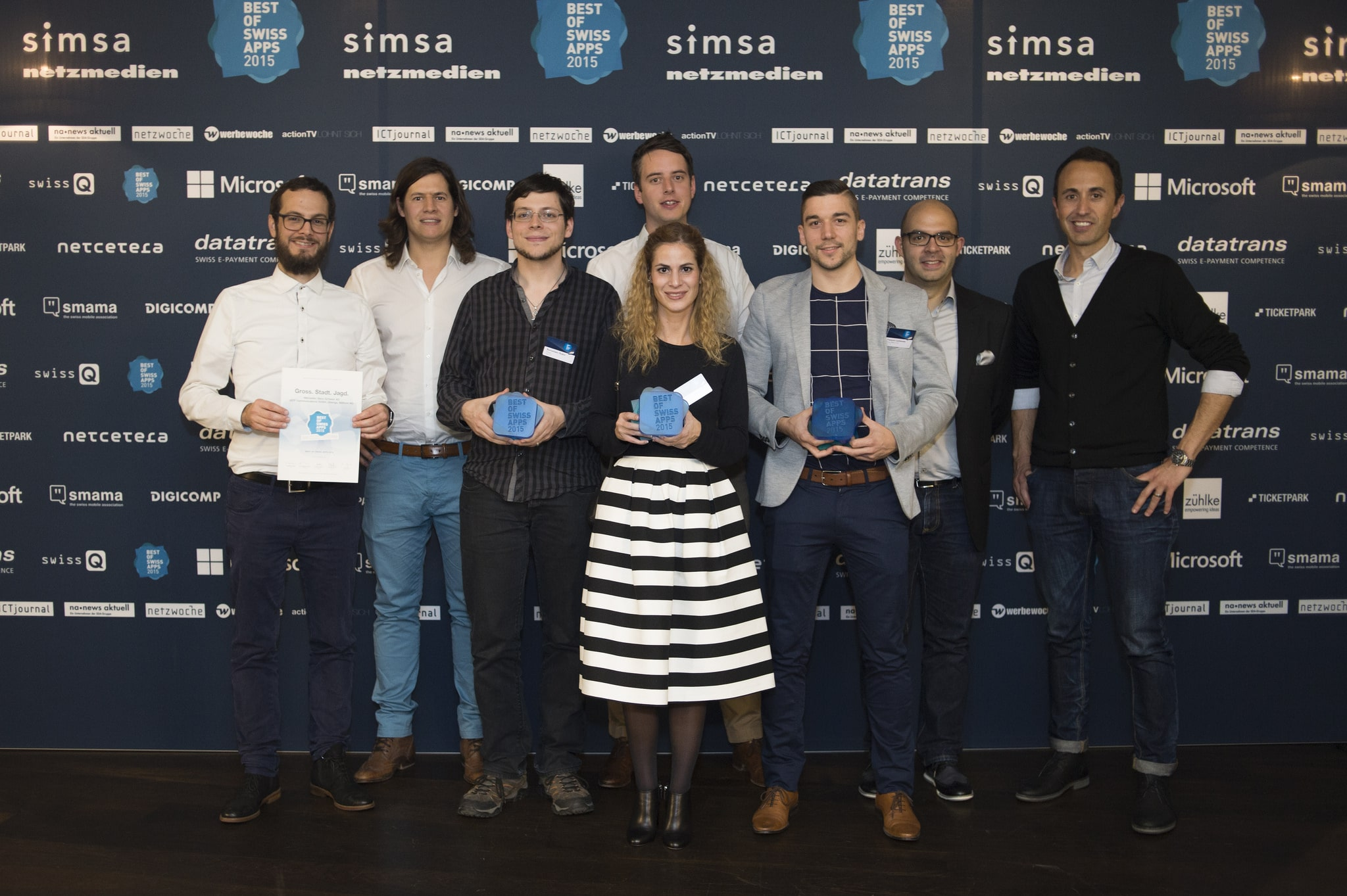 Winner group photo Best of Swiss Apps 2015 awards