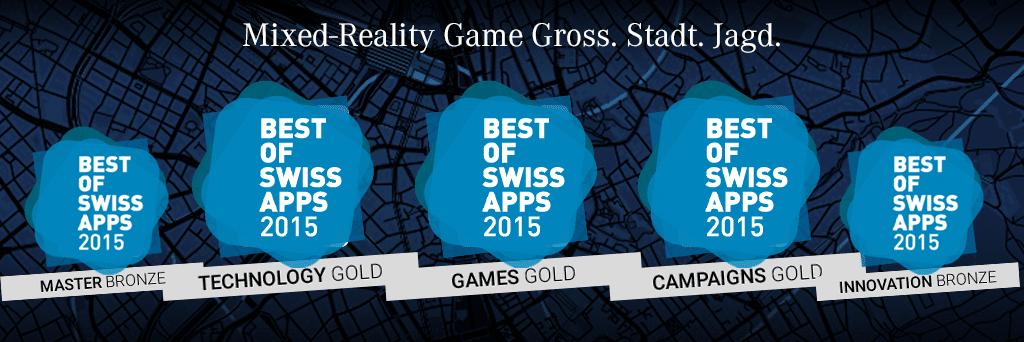 Mixed-real game wins 5 awards, 3 gold