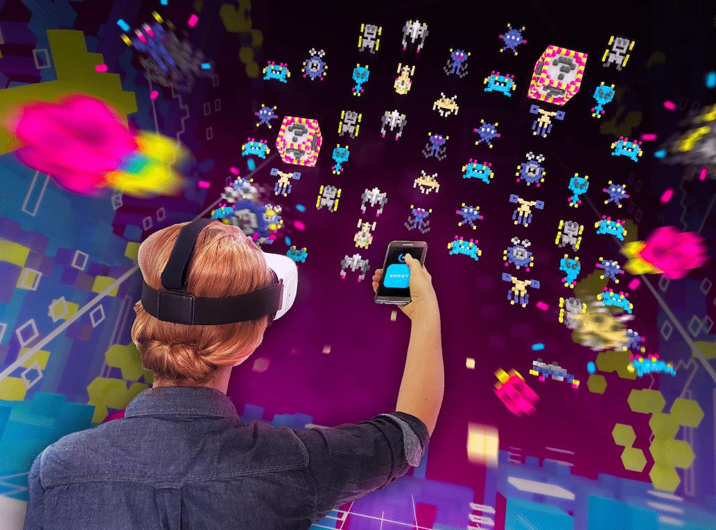 Virtual Reality-Spiel «Galaxy Invaders» in Zürich