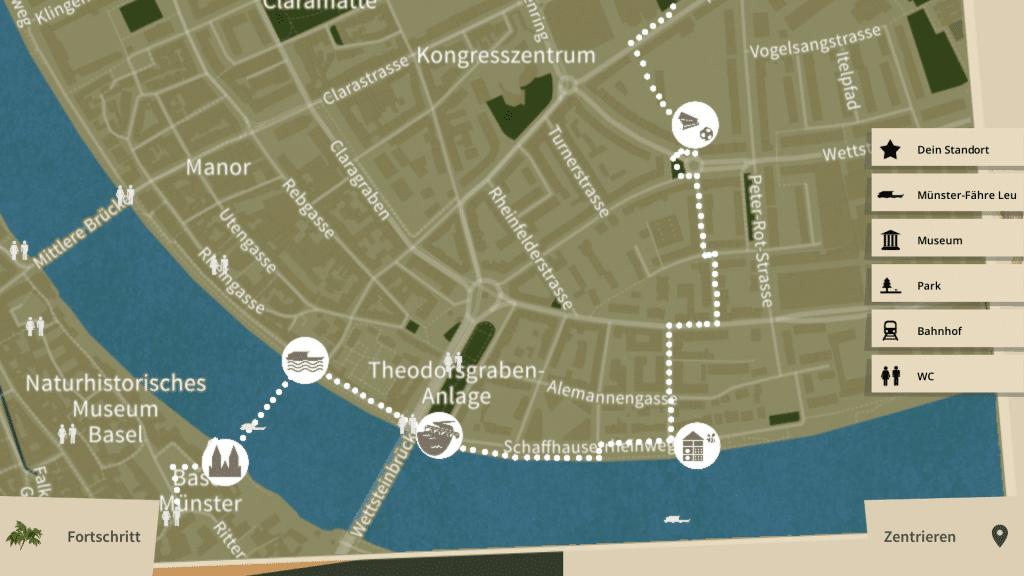 Map in «Basler StadtNatour»