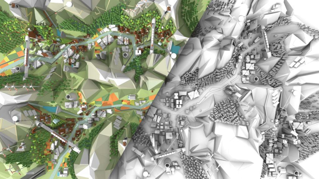 Visualisierung für Debattiertisch im World Nature Forum, Naters