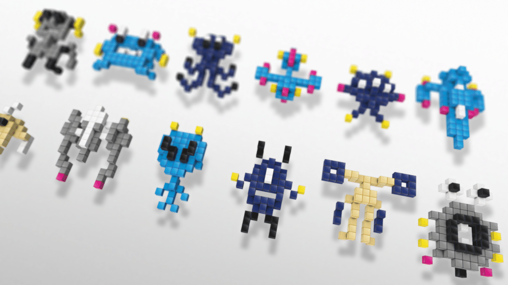 Galaxy Invaders, characters